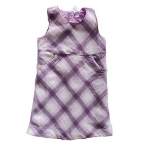 Old Navy Kids Purple Argyle Plaid Shift Dress 4T